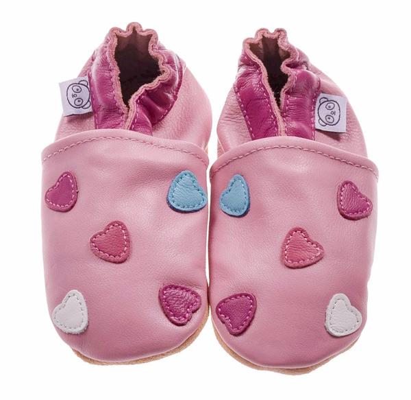 Bilde av Tøffel hjerte rosa panda feet